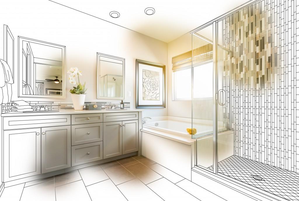 Bathroom plan coming to life