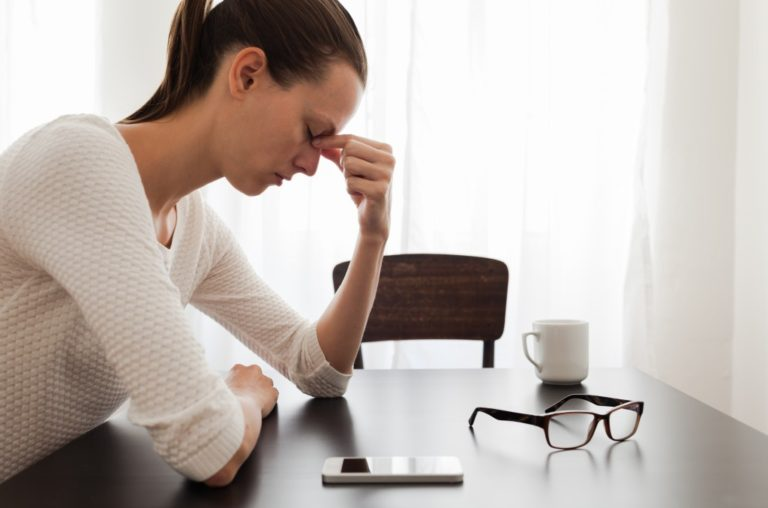 suffering from headache