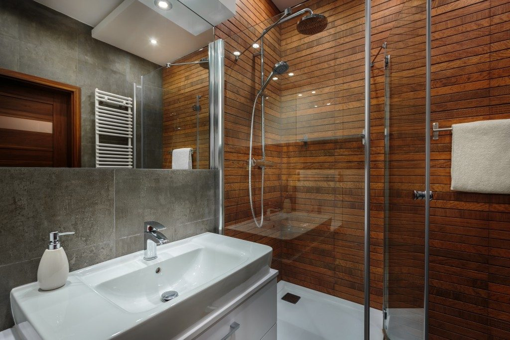 newly renovated bathroom with modern design