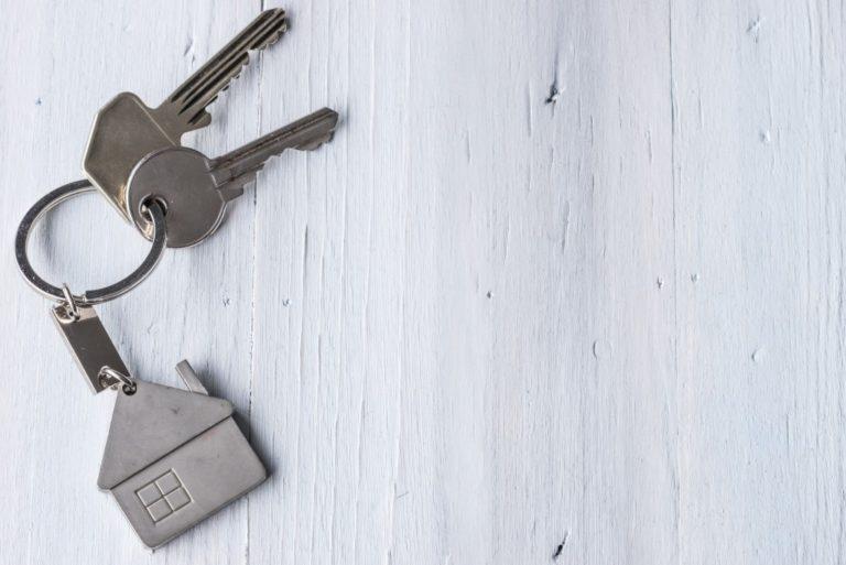 house keychain with house keys