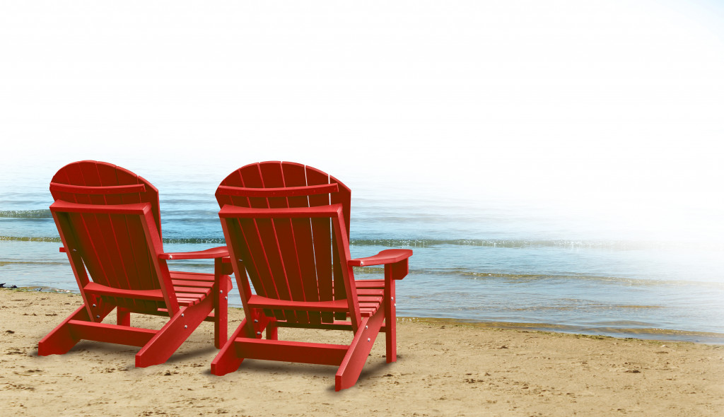 chairs in beach