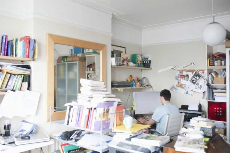 narrow office space